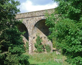 5c Lancs Yorks railway viaduct near Downham Bridge 1